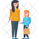 Couple Purchasing Shopping Icon