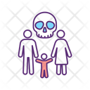 Family Threat Trafficking Death Icon