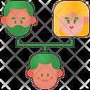 Family Tree Hierarchy Genealogy Icon