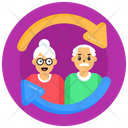 Persons Turnover Family Turnover Elderly Turnover Icon