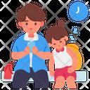 Family Waiting Icon