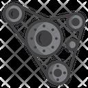 Fan Belt Car Icon
