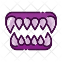 Fangs Demon Mouth Devil Teeth Icon