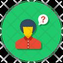 Confused Person Faq Help Icon