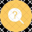 Faq Magnifier Question Icon