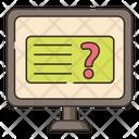 Monline Question Online Question Faq Icon