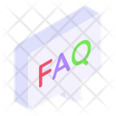 Ask Faq Frequently Asked Questions Icon