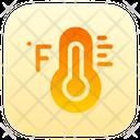 Farenheit Climate Thermometer Icon