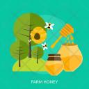 Farm Honey Agriculture Icon