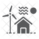 House Windmill Ecology Icon