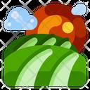 Farm Land Natural Icon
