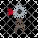Farm Windmill Countryside Icon