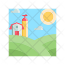 Farm Landscape Nature Icon