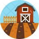 Agriculture Barn House Farmhouse Icon