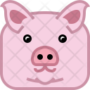 Farm Pig Swine Icon