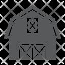 Farm Barn Building Icon