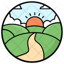 Farm Fields Agriculture Fields Icon