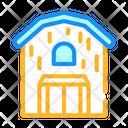 Barn Building Color Icon