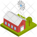 Building Farm House Mill Icon