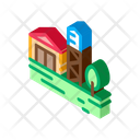 Wooden Tower House Icon