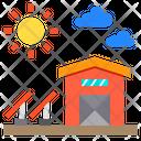 Warehouse Farm Sun Icon