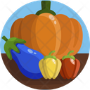 Farm Produce Pumpkin Vegetables Icon