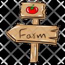 Farm Signboard Road Board Fingerboard Icon