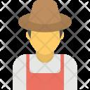 Farmer Man With Icon