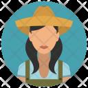Farmer Woman Avatar Icon