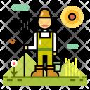 Farmer Agriculture Rack Icon