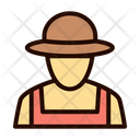 Farmer Labor Worker Icon