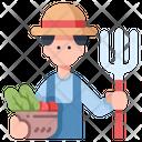 Farmer Farming Profession Icon