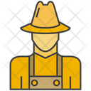 Farmer Man Avatar Icon
