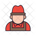 Farmer Occupation Man Icon