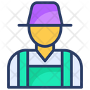 Farmer Gardener Helper Icon