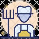 Farmer Gardener Agriculturist Icon