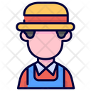 Farmer Gardener Occupation Icon