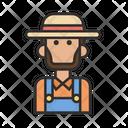 Man Farmer Beard Icon