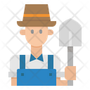 Farmer Avatar Man Icon