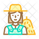 Farmer Woman Job Icon