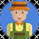 Farmer Male Man Icon