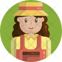 Farmer Woman Female Icon