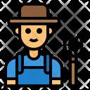 Farmer Man Avatar Icon