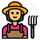 Farmer Woman Avatar Icon