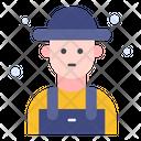 Farmer Worker Farming Icon