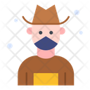 Farmer Overalls Hat Icon
