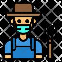 Farmer Jobs Man Icon