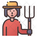 Farmer Female Woman Icon
