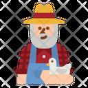 Farmer Worker Garden Icon