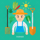 Farmer Human Profession Icon